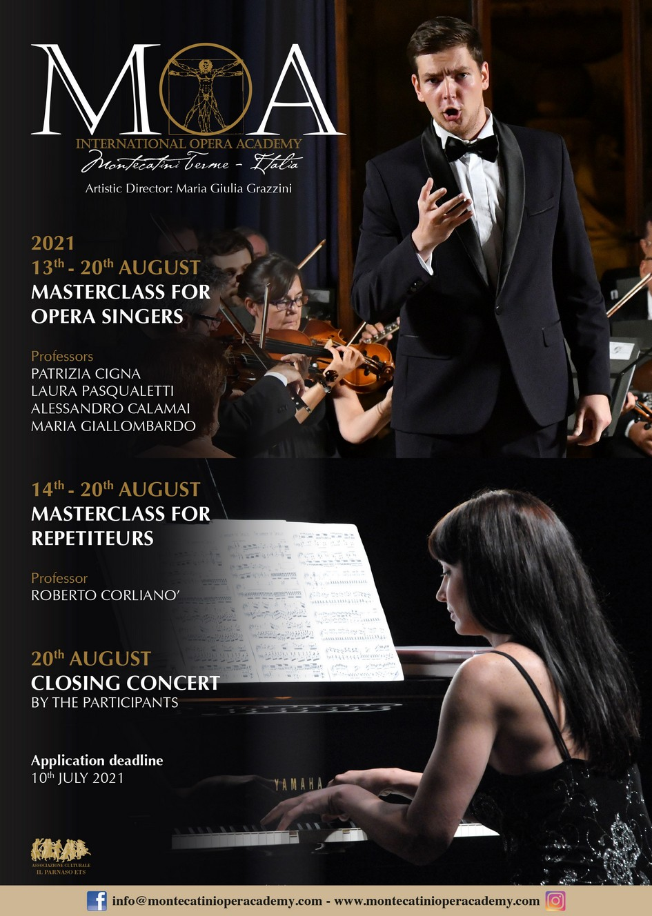 MONTECATINI OPERA ACADEMY 13TH-20TH AUGUST 2021 MONTECATINI TERME – ITALY